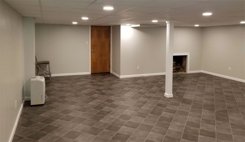 Stone Contracting Services - Basement Renovation Project