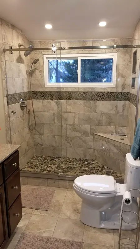 Stone Contracting Services - Bathroom Remodeling Project