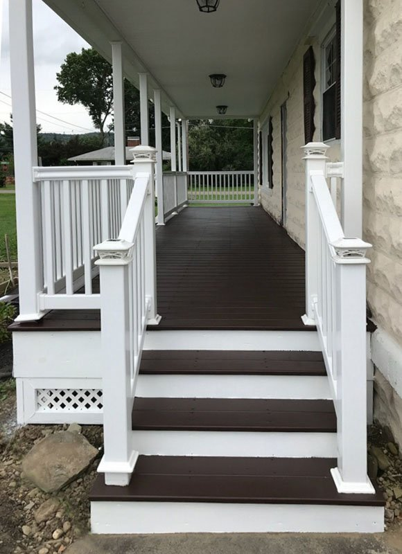 Stone Contracting Services - Porch and Deck Project